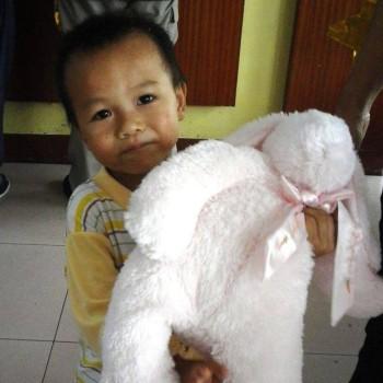 Scotty with bunny