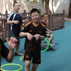 Zack hula hoops