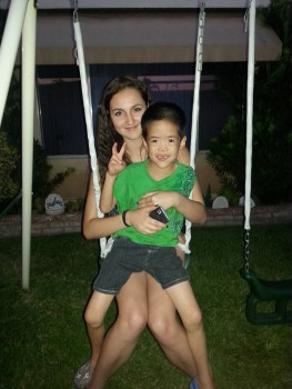 xander with host sister