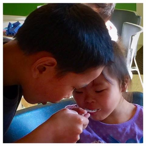 Joseph feeding Jessa