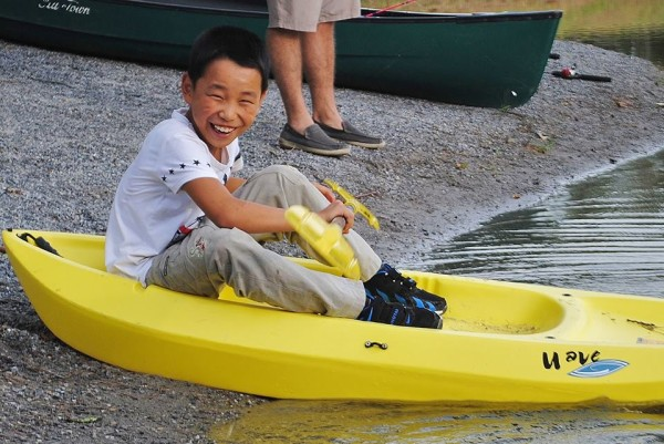 Joseph in kayak