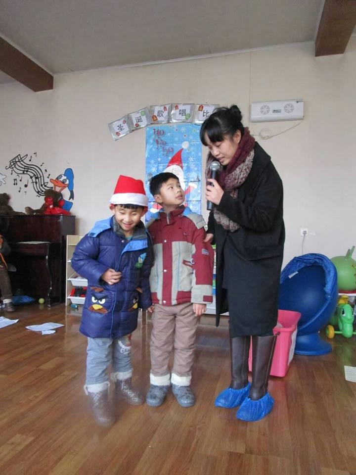 Caleb Christmas with Simon
