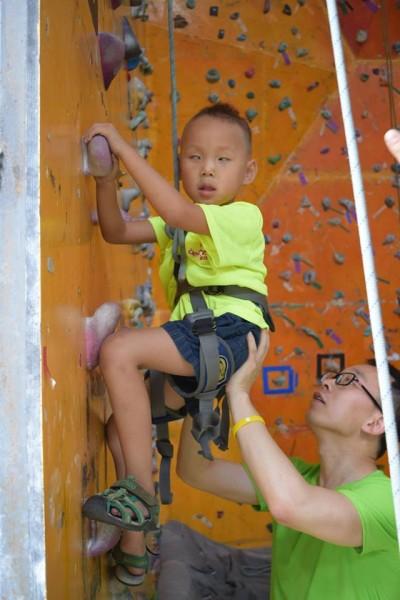 Robbie climbing Aug 2015