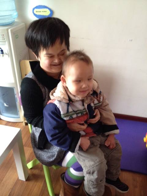 Xiao Hua with Bo Ai (Robbie) March 2014