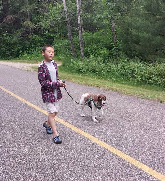Leo with Dog