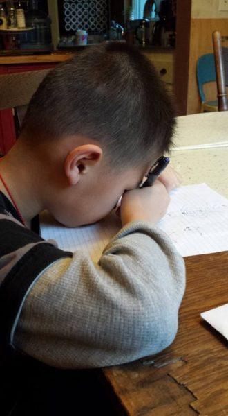 Nathaniel writing